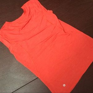 Orange Lululemon Workout Top